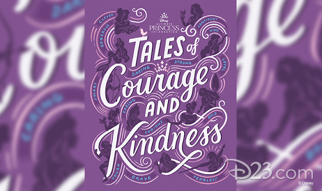 Purple cover with princess silhouettes of the new book Takes of Courage and Kindness