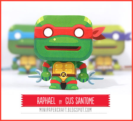 TMNT Mini Raphael Paper Toy