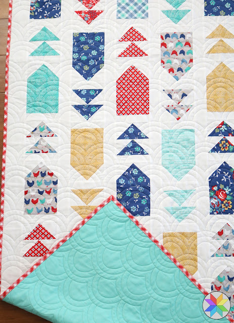 Rolling Hills longarm quilting found on A Bright Corner - Venture Out quilt pattern by Andy Knowlton from Fresh Fat Quarter Quilts book