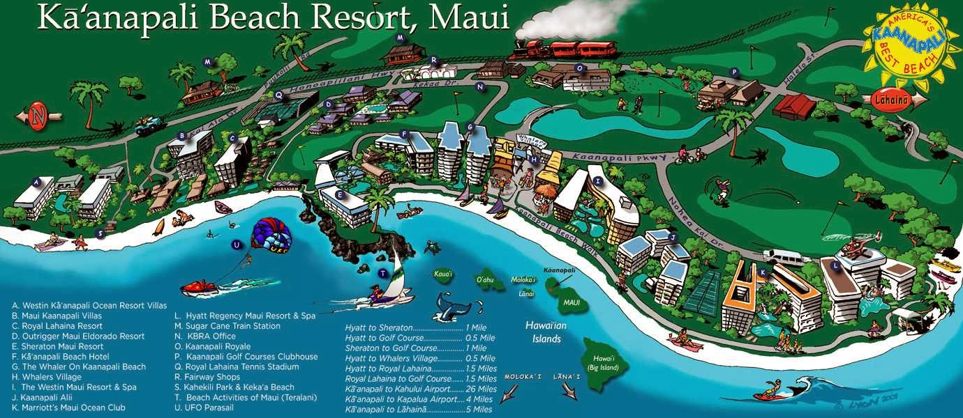 kaanapali beach map  karmaboxers updated . kaanapali beach map  my blog