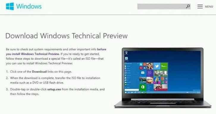 Siap-Siap Mengunduh Pratinjau Windows Threshold? Ini Dia Lokasinya.