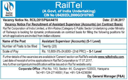 [RailTel+Assistant+Supervisor+Jobs+2017+www.indgovtjobs.in%5B2%5D]