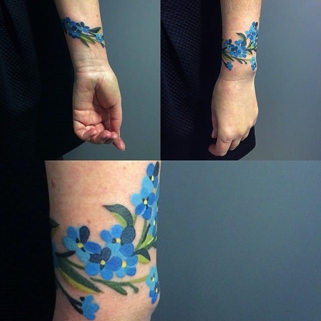aquarela_flores_pulseira_de_tatuagem