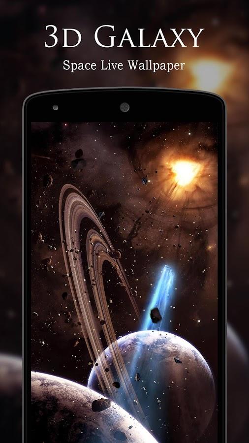 3D Galaxy Space Live Wallpaper Screenshot