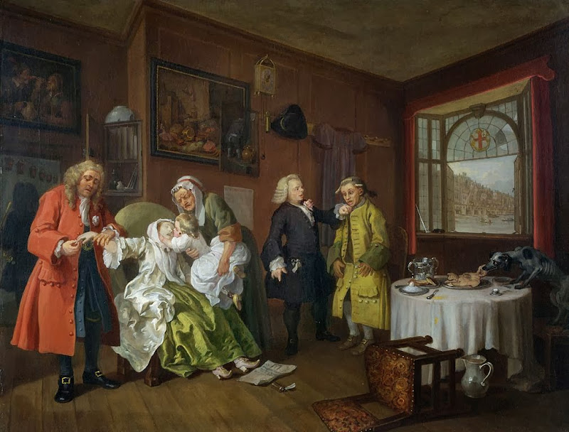 William Hogarth - Marriage A-la-Mode 6 The Lady's Death
