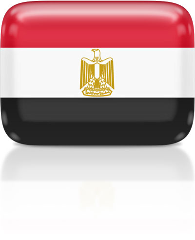 Egyptian flag clipart rectangular