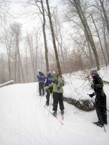 MPLS SW skiers out on the trail enjoying the fresh snow.