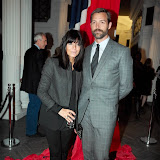 WWW.ENTSIMAGES.COM -   Claudia Winkleman and Patrick Grant    at    Mitch Griffiths Iconostasis  private view at Halcyon Gallery, 144 New Bond Street May 15th 2013                                                   Photo Mobis Photos/OIC 0203 174 1069
