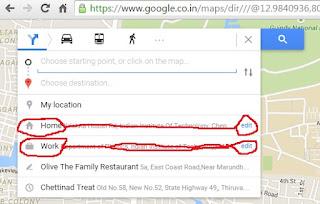 change home address - Google Maps Help on