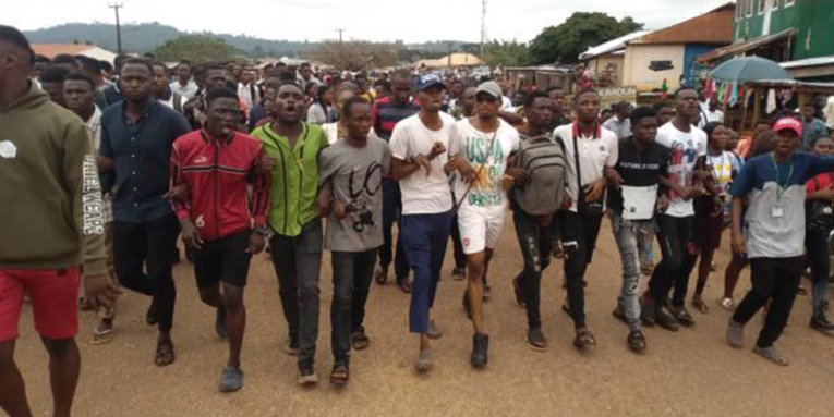 Nigerian undergraduate shot by police buried, more students arrested