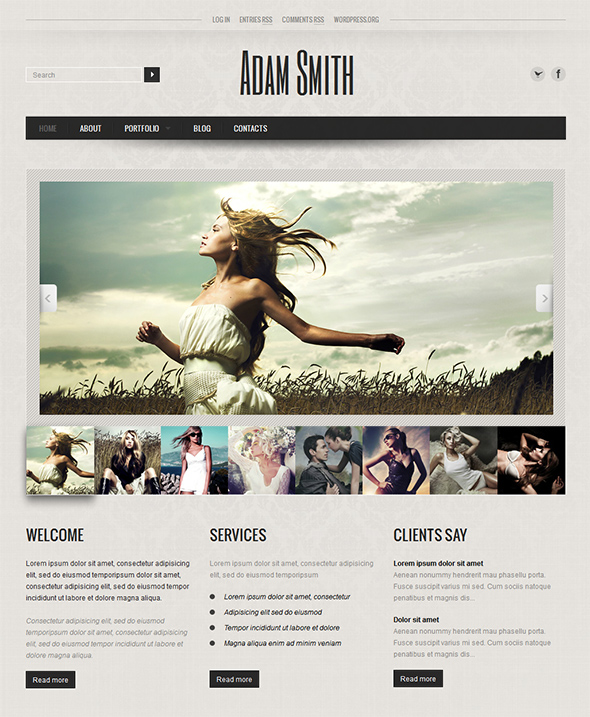 AS Photography Portfolio WP Theme