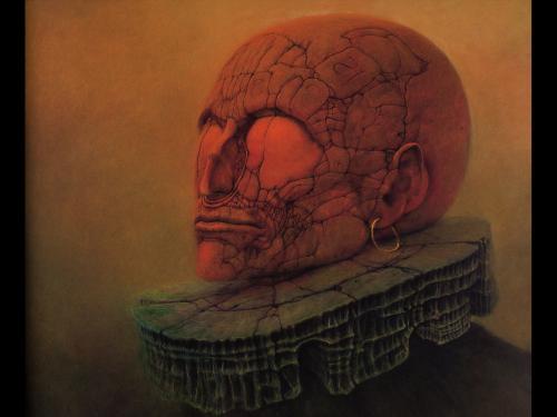Zdzislaw Beksinski Dead King, Death