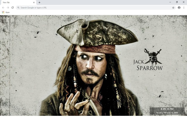 Pirates of the Caribbean New Tab Theme