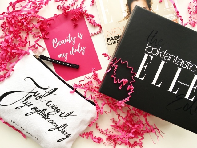 march love me beauty, march look fantastic #lfbeautybox elle magazine, latest in beauty build your own box review