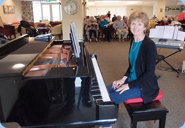 Denise Gunson played the grand piano. Photo courtesy of Dennis Lyons.