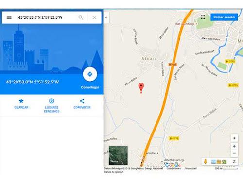 Ubicaciones en Google Maps