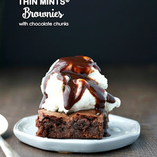 Thin Mints® Brownies with Chocolate Chunks