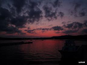 2009/8/25の夕焼けです。夕日が沈んだ後は見事な夕焼けが広がりました。