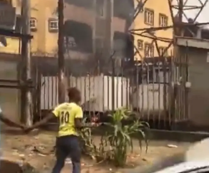 Transformer Explodes With Loud Noise With Fire Flames in Lagos
