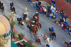 The stock show parade with horses...