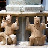 Statues at Temple of Reclining Buddha (Wat Pho). Bangkok