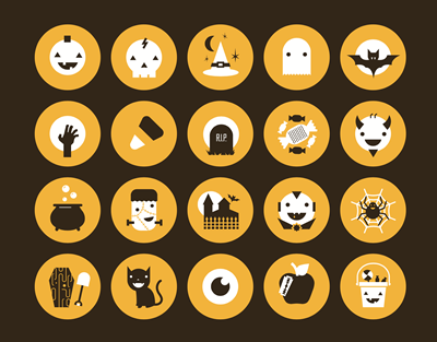 Halloweeny Icons by Greg Christman