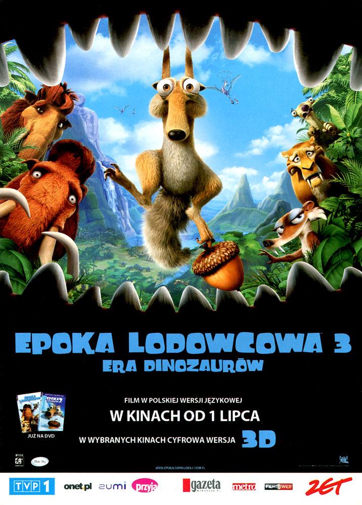 Ulotka filmu 'Epoka Lodowcowa 3: Era Dinozaurów (przód)'