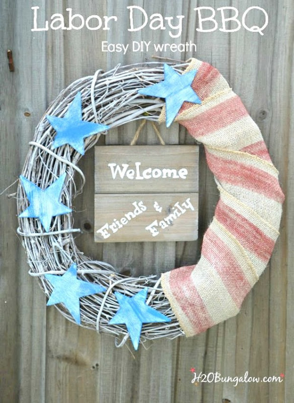 Patriotic-labor-Day-BBQ-easy-DIY-wreath-2-H2OBungalow