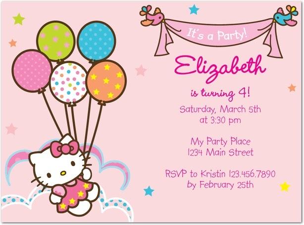 Hello Kitty Birthday Party The Little Style File – Hello Kitty Birthday Invitation