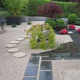 Garten in Aarau mit Granitmauer