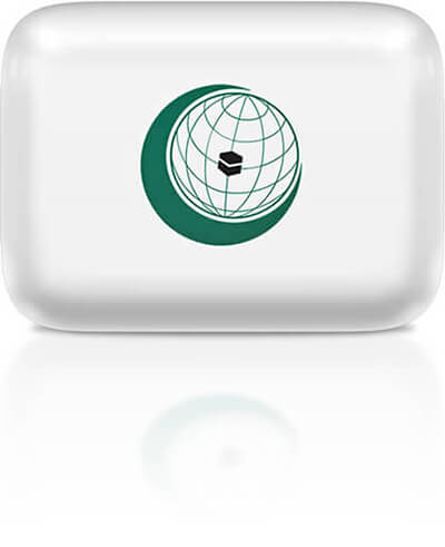 OIC flag clipart rectangular