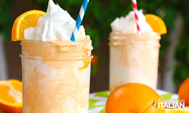 Orange Creamsicle Shake with whipped cream on top