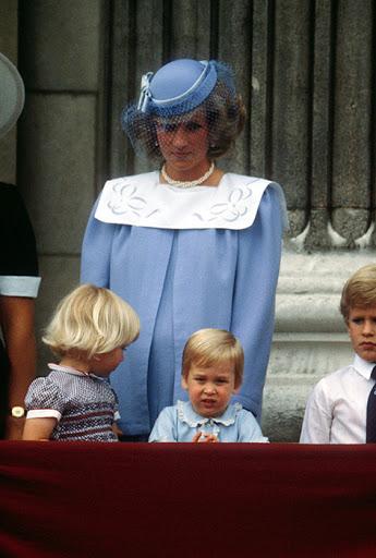 History of Trooping Princess Diana, Prince William Photo (C) Rex.jpg