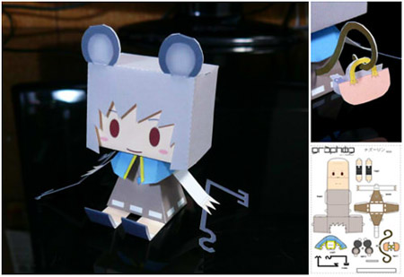 Touhou Project Graphig Nazrin Paper Toy