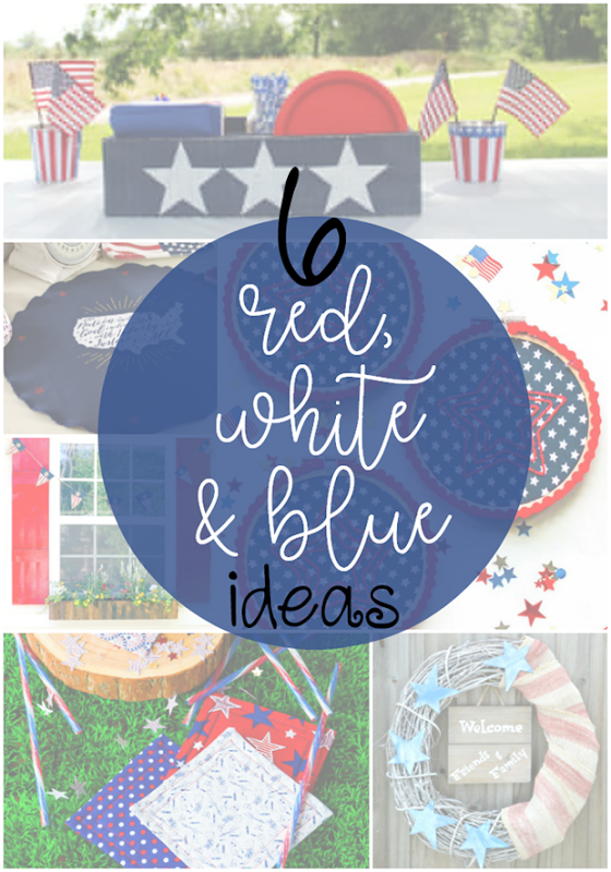 6 Red, White & Blue Ideas at GingerSnapCrafts.com #4thofJuly #patriotic #redwhiteandblue