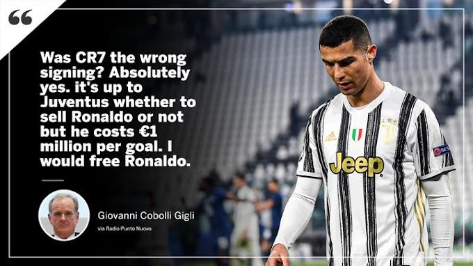 Cristiano Ronaldo Earns €1m Per Goal At Juventus, Claims Ex President Giovanni