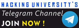 HackingUniversity Telegram Channelf for Awesome Updates