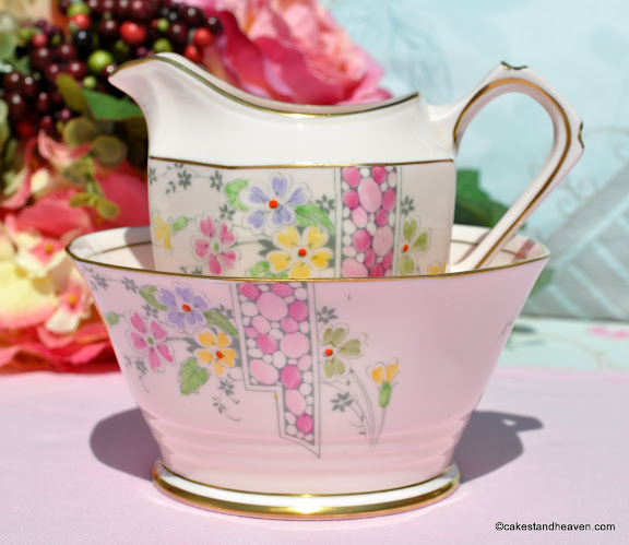 R.H. and S.L.Plant Tuscan Pink Bone China