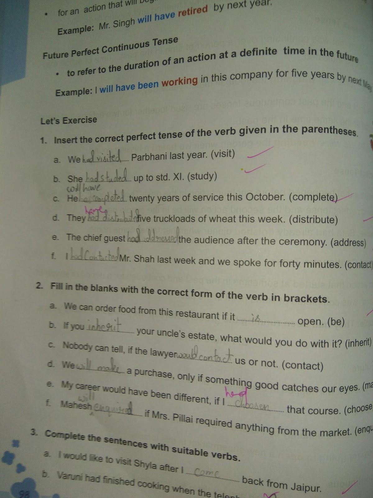 English Grammar Galaxy Tenses