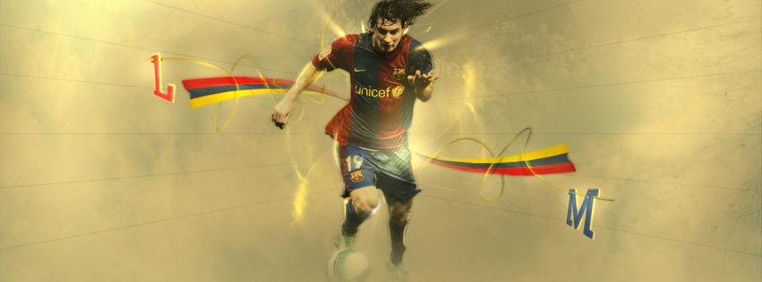 Lionel Messi 2012 facebook cover