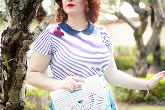 Vintage summer essentials - bamboo purses and brenton stripes | Lavender & Twill