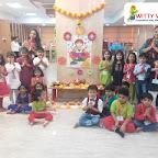 Ganesh Chaturthi Celebration by Sr KG Section at Witty World, Bangur Nagar (2018-2019)