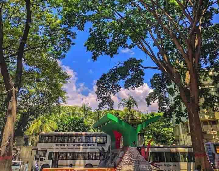 শিক্ষার্থীশূন্য জগন্নাথ বিশ্ববিদ্যালয় ক্যাম্পাস