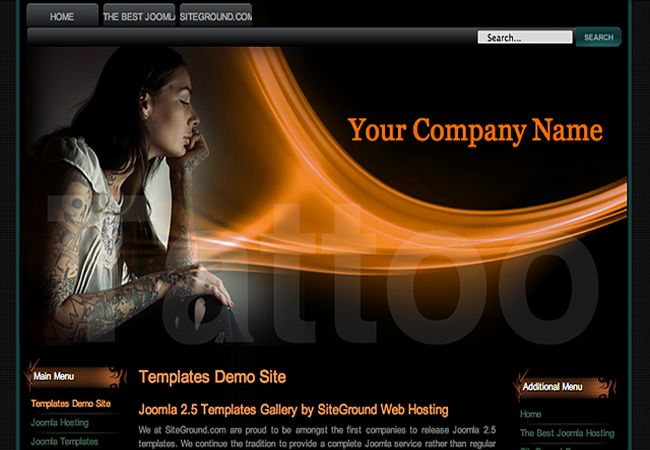 Tattoo Art Dark Joomla Template