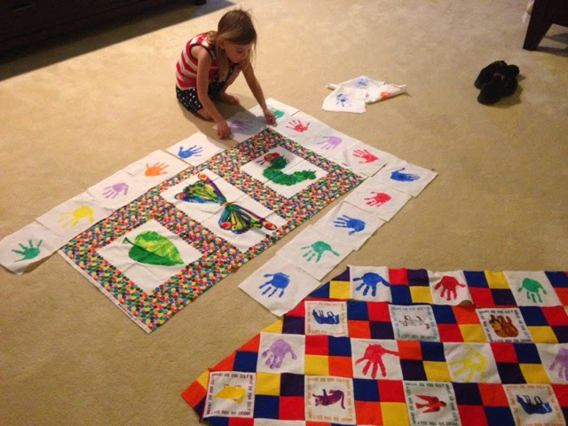 Charity handprint quilt #3:The Very Hungry Caterpillar [aka ... : the hungry caterpillar quilt - Adamdwight.com