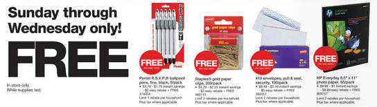 FREE Staples Office supplies