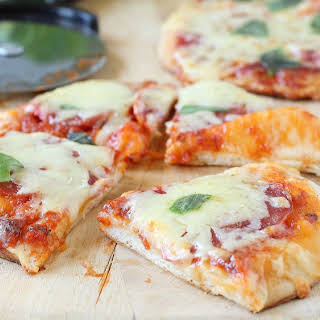 Grilled Mini Biscuit Pizzas.