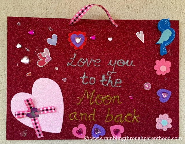 Easy Valentine's Day Wall Art for Children