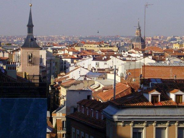 Вид на Мадрид из окна отеля