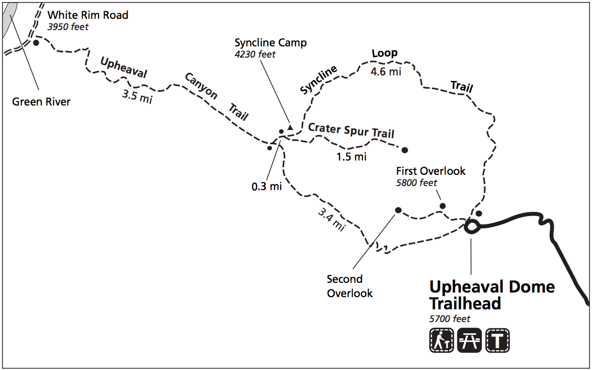 Syncline Trail Map